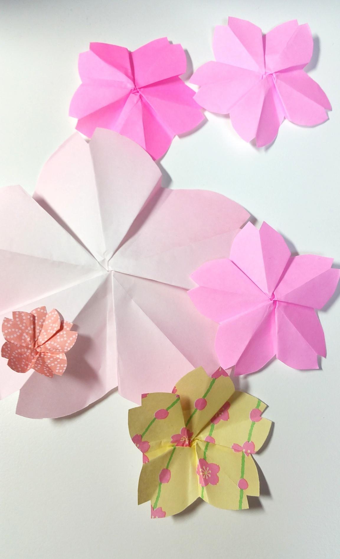 簡単 桜 折り紙